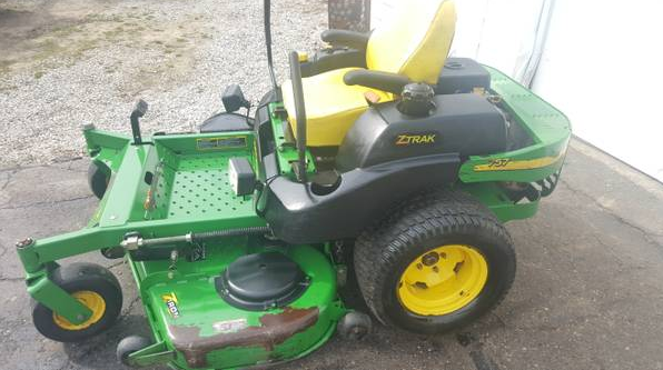 Used Tires Akron Ohio >> 60in John Deere 757 Commercial Zero Turn Mower 850 Hours ...
