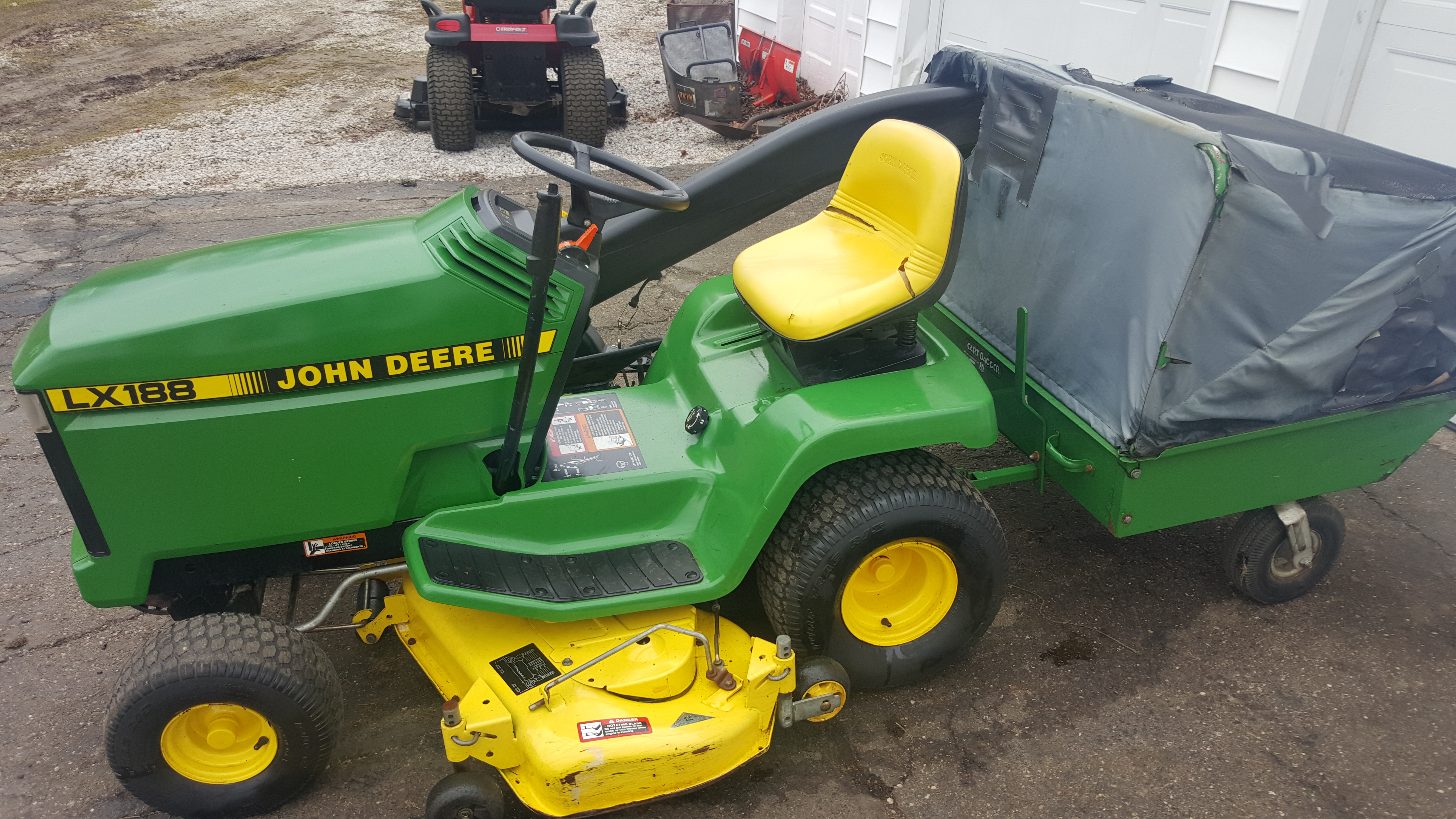 48in John Deere Lx188 Heavy Duty Riding Lawn Tractor W Bagger Liquid Cooled Kawasaki Mint Shape Gsa Equipment New Used Lawn Mowers And Mower Repair Service Canton Akron Wadsworth Ohio