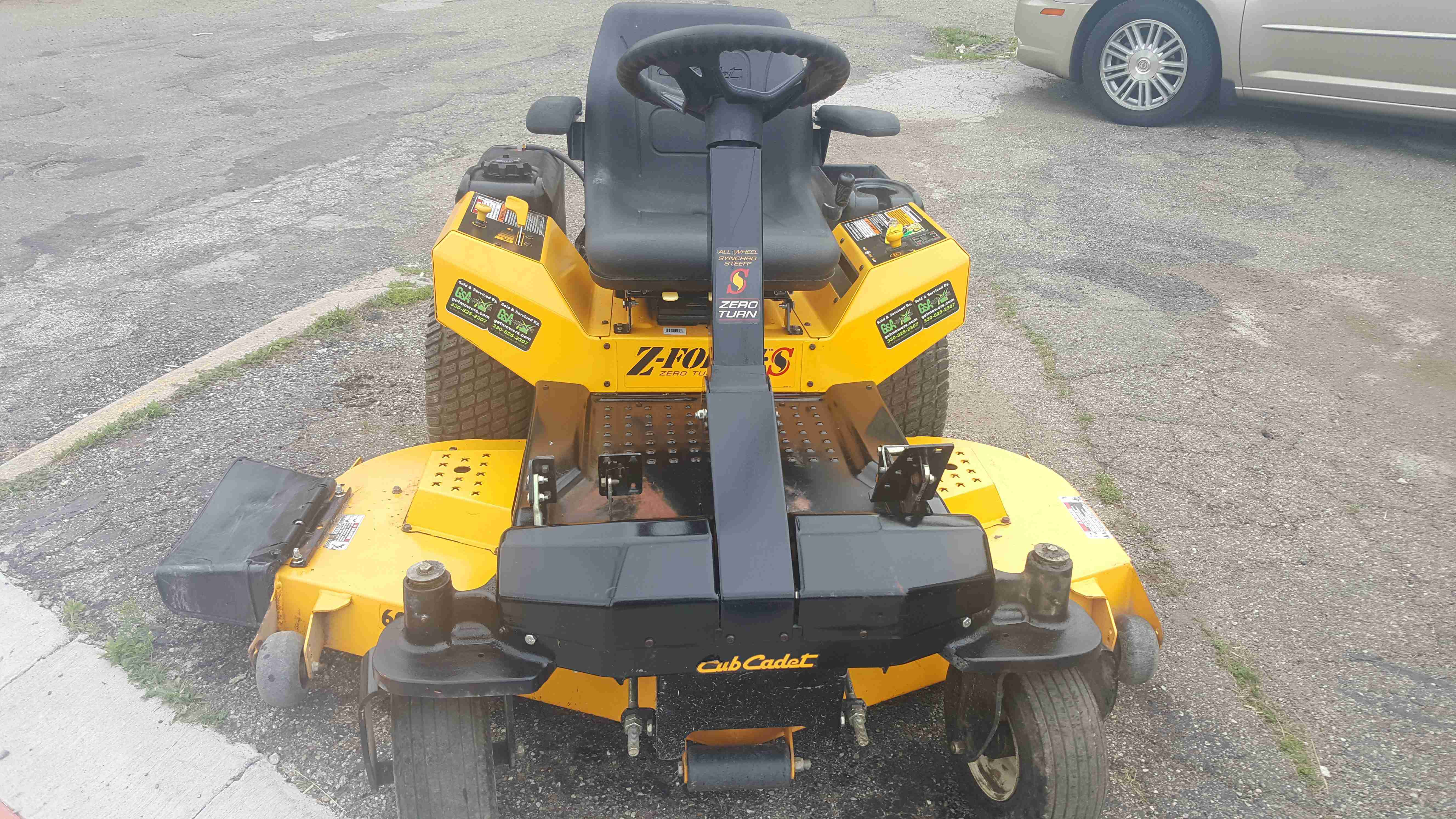 60in Cub Cadet Zforce Commercial Zero Turn Mower Steering