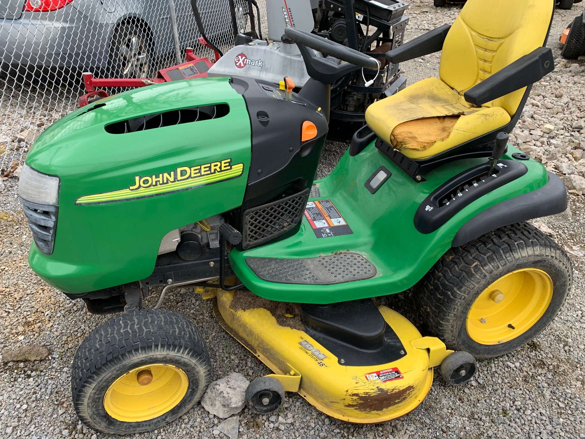 48in John Deere L120 Riding Lawn Tractor Non Running Parts Mower Gsa Equipment New Used Lawn Mowers And Mower Repair Service Canton Akron Wadsworth Ohio