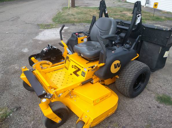 Lawn Mower For Sale Used >> 61in Wright Z Commercial Zero Turn Mower Only 90 HRS w/ Triple Bagger System & Mulch Kit Mint ...